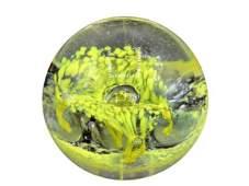 "VINTAGE MURANO GLASS ART SCULPTURE SPHERE 2"""