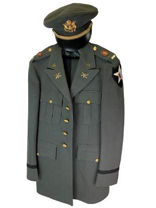 U.S. ARMY 2ND INFANTRY OFFICER OLIVE DRESS UNIFORM
