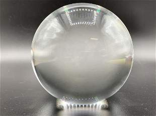 """STEUBEN CRYSTAL ART GLASS BALL SCULPTURE 4"""""""