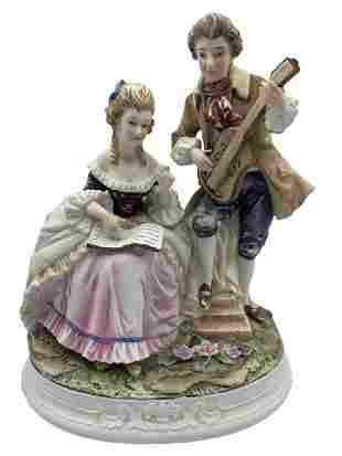 VTG SADEK MAN & WOMAN PORCELAIN FIGURINE 8435