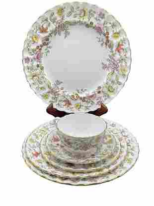 "SPODE ""TAPESTRY"" CHINA SET FOR 9(56 PIECES)"