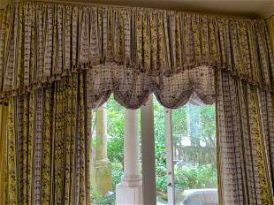 VINTAGE WINDOW TREATRMENT DRAPERY CURTAINS