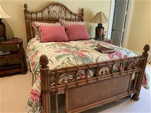 TOMMY BAHAMA  STYLE QUEEN BAMBOO BED BY CENTURY
