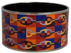 HERMES BLUE/RED/ORANGE STAINLESS BRACELET
