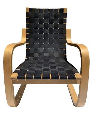 ALVAR AALTO # 406 BENTWOOD LOUNGE CHAIR FINLAND