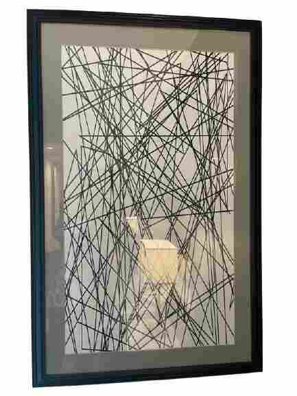 MODERN ABSTRACT STRING ART BLACK AND WHITE