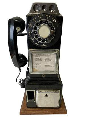 VTG GTE AUTOMATIC ELECTRIC PAY TELEPHONE ON BASE