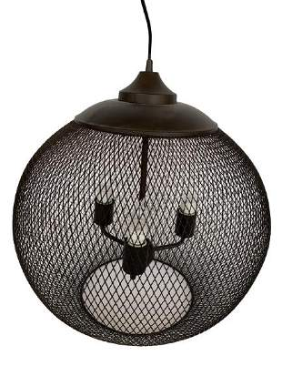 VINTAGE MODERN WIRE SPHERE HANGING PENDANT LIGHT