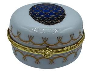 VTG ROMANOV GOLD EMBLISHED EGG PILL BOX