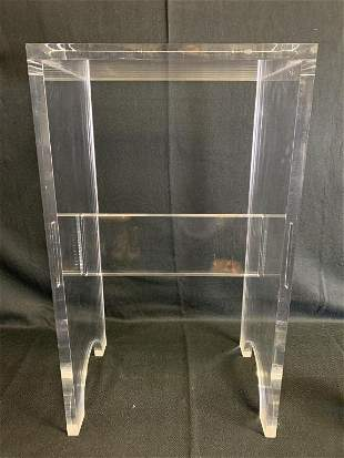 MID CENTURY MODERN LUCITE BENCH / SIDE TABLE