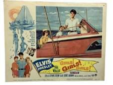 """1960 ELVIS PRESLEY GIRLS! MOVIE LOBBY CARD 14"""""""