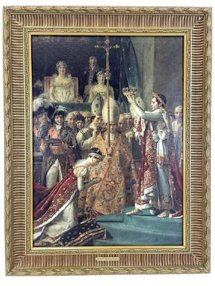 """JACQUES LOUIS DAVID GICLEE IN GOLD GILT FRAME 33"""""""