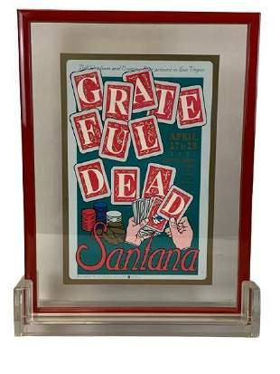 "GRATEFUL DEAD & SANTANA CONCERT POSTER 26"""