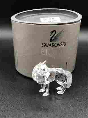 "SWAROVSKI CRYSTAL WOLF FIGURINE 3"""