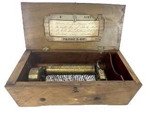 ANTIQUE 1880S ETOUFFOIRS EN ACIER MUSIC BOX 13614