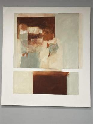 LARGE UEHARA 20C ABSTRACT OIL PAINTING