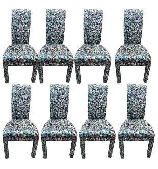 """8 HIGH BACK UPHOLSTERED DINING ROOM CHAIRS 40"""""""
