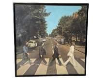 "THE BEATLES ""ABBEY ROAD"" FRAMED VINYL LP RECORD"