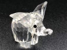 Swarovski Crystal Baby Elephant Figurine