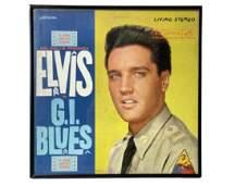 "1960 ELVIS PRESLEY ""G.I. BLUES"" FRAMED RECORD"