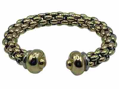 18K GOLD YURMAN-STYLE CHAIN LINK BRACELET