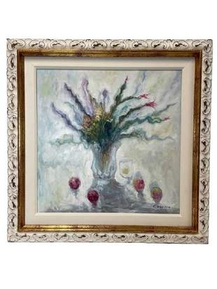 """GRANERO FLORAL OIL PAINTING ON CANVAS 32"""""""