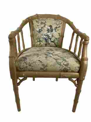 FAUX BAMBOO CHIPPENDALE CHINESE CHAIR
