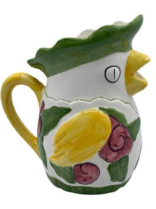 HANDPAINTED CERAMIC PITCHER FROM PORTUGAL