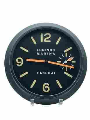 """LUMINOR MARINA PANERAI MATTE BLACK WALL CLOCK 12"""""""