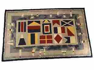 "NAUTICAL COASTAL INSPIRED SAILBOAT RUG 60"" X 37"""