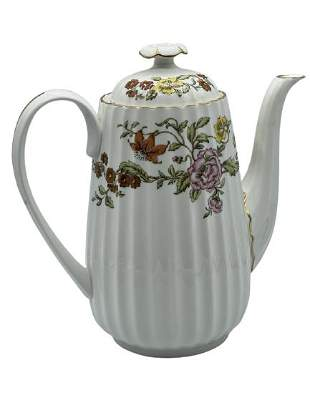 """SPODE """"FLORAL TAPESTRY COFFEE POT"""