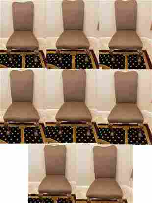 8 BANQUET CHAIRS IN THE STYLE OF GEORGE II