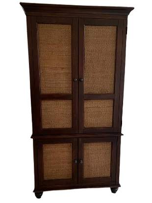 RATAN FRONT AMOIRE OR WARDROBE