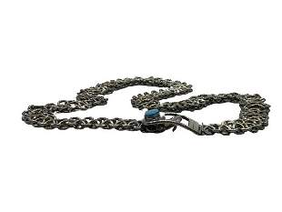 """STERLING SILVER AND TOURQUOISE BELT 35"""""""