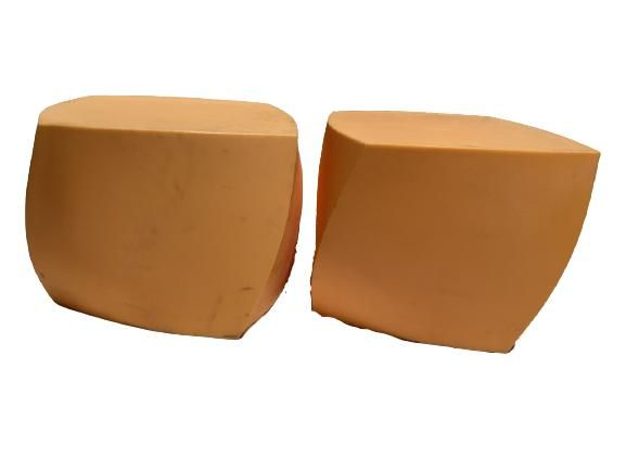 PAIR OF FRANK GEHRY MODERN CUBE SIDE TABLES
