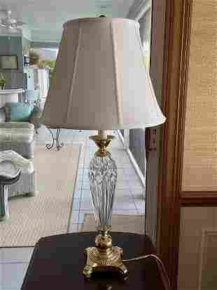 """VINTAGE WATERFORD STYLE TABLE LAMP 34"""""""