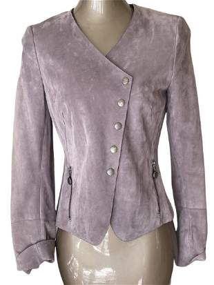 FABULOUS FITTED AKRIS VIOLET SUEDE JACKET