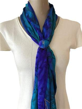 """VINTAGE 56"""" SCARF WITH REMOVEABLE CLIP"""