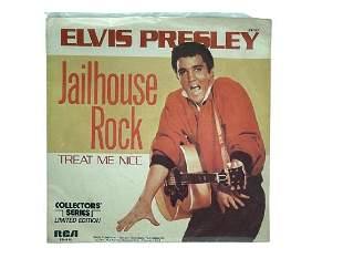 """VINTAGE ELVIS 45 RPM 7"""" JAILHOUSE ROCK RECORD"""