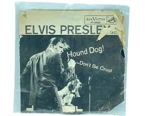 """VINTAGE ELVIS 45 RPM 7"""" HOUND DOG RECORD"""