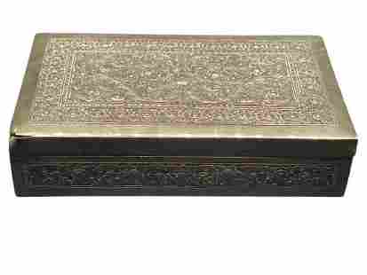 FRENCH ANTIQUE STERLING SILVER FILIGREE SNUFF BOX