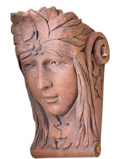 ANTIQUE TERRACOTTA WALL SCONCE