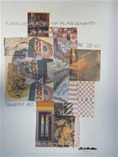 "1987 SIGNED RAUSCHENBERG LITHOGRAPH PRINT 36"""