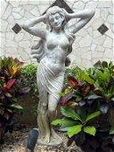 METAL GARDEN STATUE OF FEMALE NUDE