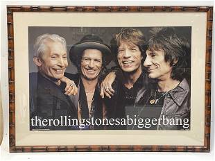 """THE ROLLING STONES """" A BIGGER BANG"""" PROMO POSTER"""