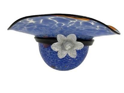 """MURANO STYLE ART GLASS HAT 13"""""""
