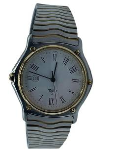 EBEL WAVE 18K GOLD AND STAINLESS STEEL MENS WATCH