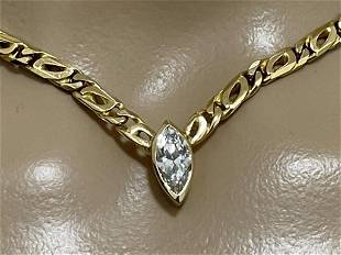 18k GOLD AND DIAMOND NECKLACE
