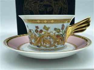 VERSACE ROSENTHAL IKARUS TEA CUP & SAUCER