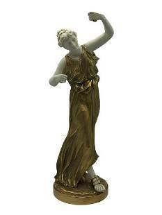 ANTIQUE ROYAL WORCESTER DANCING WOMAN #1827
